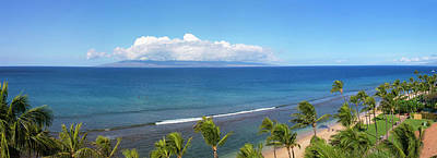Hawaii Islands Photograph - Palm Trees On The Beach, Kaanapali by Panoramic Images