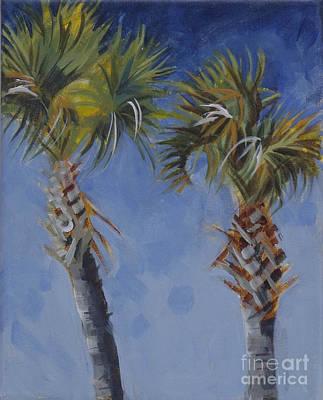 Palm Trees On Blue Original