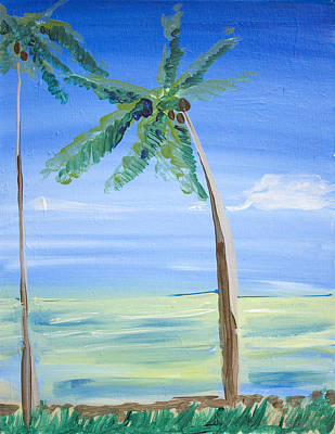 Painting - Palm Trees by Richard Fritz