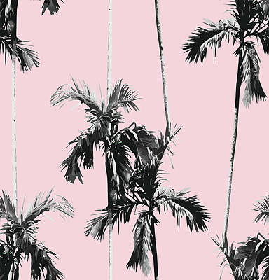 Digital Art - Palm Trees Seamless Background by Berry2046