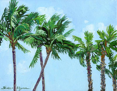 Landscape Painting - Palm Trees Sway by Shalece Elynne