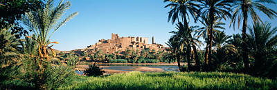 Marrakesh Photograph - Palm Trees With A Fortress by Panoramic Images