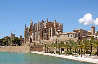 Photograph - Palma Cathedral 4 by Herb Paynter