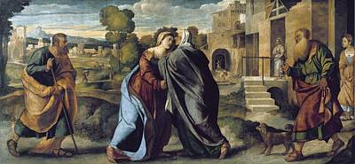 Palma, Jacopo 1480-1528. The Visitation Art Print by Everett
