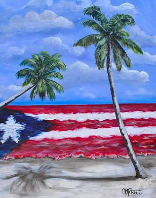 Rican Painting - Palmas De Puerto Rico by Melissa Torres