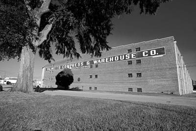 Photograph - Palmetto Compress Warehouse Bw by Joseph C Hinson Photography