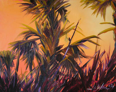 Palmettos At Dusk Art Print
