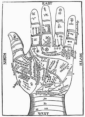 Palmistry, 1671 Art Print