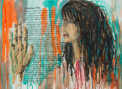 Palmistry A Psalm Art Print by Brenda Clews