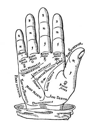 Palmistry Photograph - Palmistry Chart, 1560 by Granger