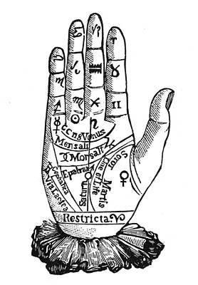 Palmistry Chart, 1885 Art Print