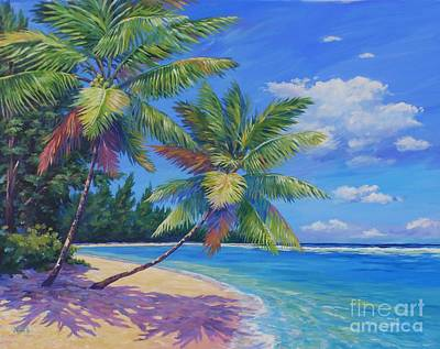 Cuba Painting - Palms At Winter Haven by John Clark