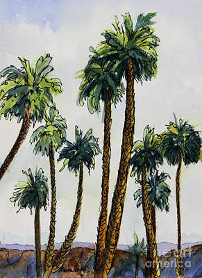 Desert Scape Painting - Well Dressed For The Gathering by Maria Hunt