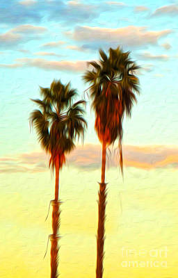 Digital Art - Palms by Gregory Dyer