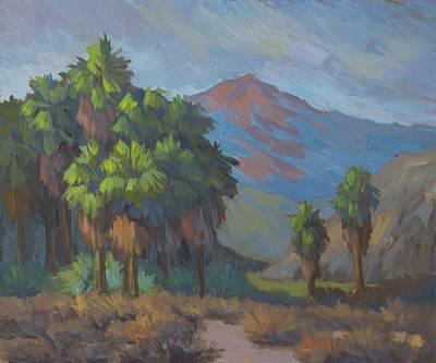 Mountain Valley Painting - Palms Grouped Together by Diane McClary