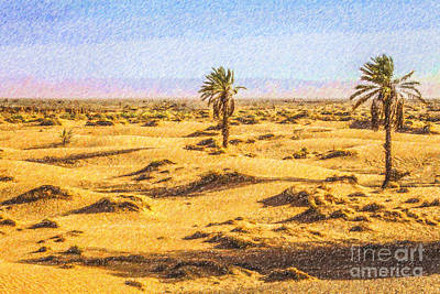 Digital Art - Palms In The Desert by Liz Leyden