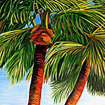 Painting - Palms In The Sky by Shelia Kempf