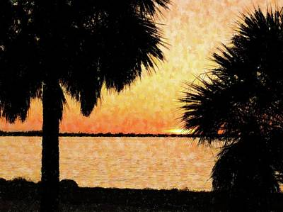 Mixed Media - Palms View Of Sanibel by Florene Welebny