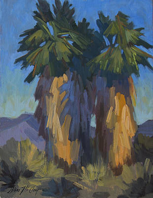 Painting - Palms With Skirts by Diane McClary