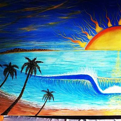 Photograph - #palmtrees Added On The 4/7ft #mural by Paul Carter