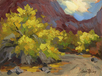 Canyon Painting - Palo Verde Trees by Diane McClary
