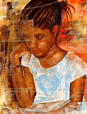 Painting - Paloma by Laurend Doumba