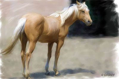 Caskey Wall Art - Painting - Palomino Colt by Bethany Caskey