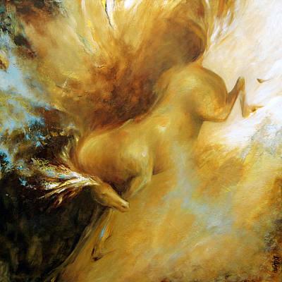 Horse Painting - Palomino by Dina Dargo