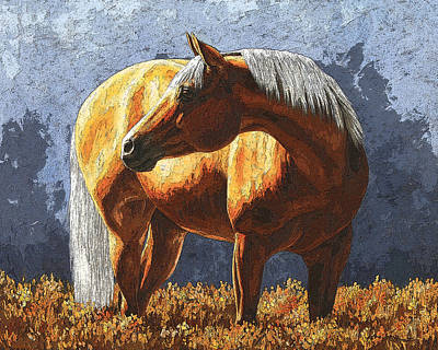 Palomino Painting - Palomino Horse - Variation by Crista Forest
