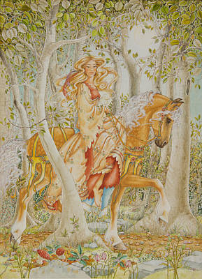 Palomino Horse Painting - Palomino Princess by Lynn Bywaters