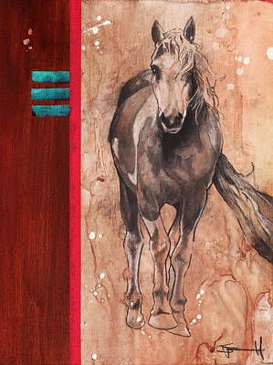 Animals Drawings - Palomino by Sean Parnell