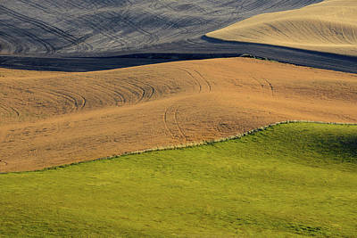 Contour Farming Photograph - Palouse Abstract by Latah Trail Foundation