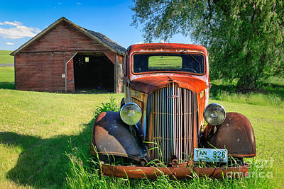 Old Western Photograph - Palouse Dodge by Inge Johnsson