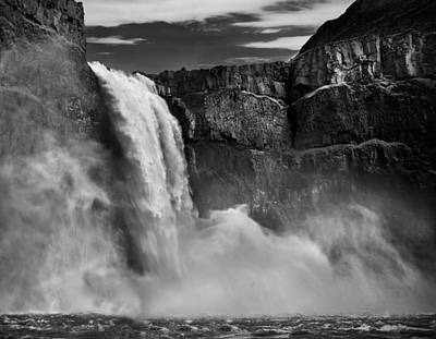 Photograph - Palouse Falls Bw by Leland D Howard