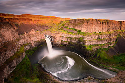 Photograph - Palouse Falls Sunset Blush by Dan Mihai