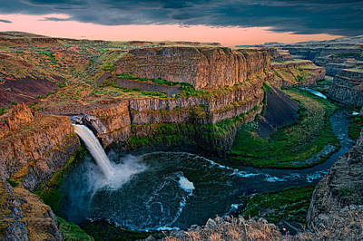 Photograph - Palouse Falls Sunset by Dan Mihai