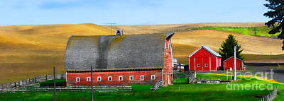 Photograph - Palouse Farm by Sam Rosen