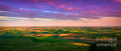 Palouse Photograph - Palouse Land And Sky by Inge Johnsson