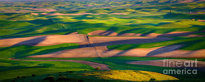Rural Scenery Photograph - Palouse Ocean Of Wheat by Inge Johnsson