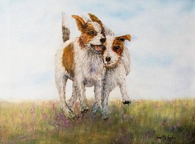 Wire Fox Terrier Painting - Pals by Loretta Luglio
