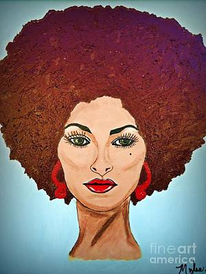 Painting - Pam Grier C1970 The Original Diva by Saundra Myles