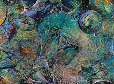 Bright Colors Digital Art - Pamela And Jim by Betsy Knapp