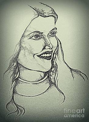 Drawing - Pamela by Greg Moores