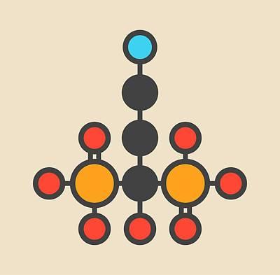 Pamidronic Acid Molecule Art Print