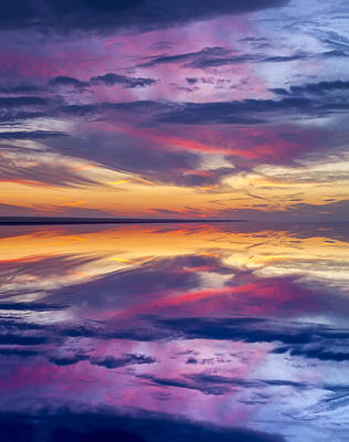 Photograph - Pamlico Sky Reflection by Jim Dollar