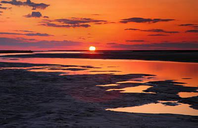 Pamlico Sunset Art Print by Steven Ainsworth