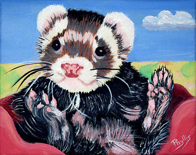 Ferret Painting - Pampered Ferret by Phyllis Kaltenbach