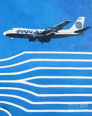Pan Am Clipper Art Print by Lesley Giles