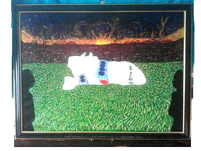 Terrorism Painting - Pan Am Flight 103 Lockerbie by MERLIN Vernon