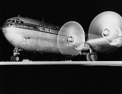 American Airlines Photograph - Pan American Boeing 377 by Underwood Archives